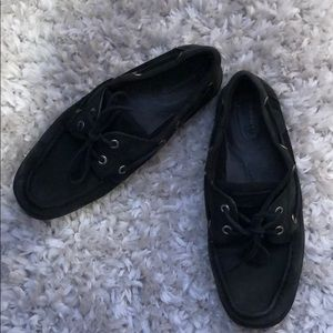 Limited Edition All Black Sperry Loafers- Size 7.5